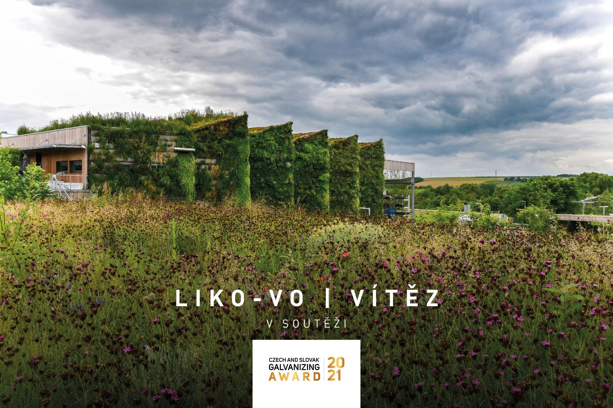 Grünhalle LIKO-V gewinnt den Czech and Slovak Galvanizing Award 2021