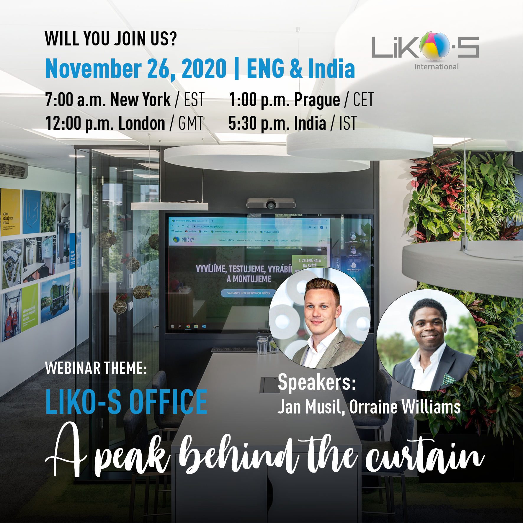 A peak behind the curtain   LIKO-S office